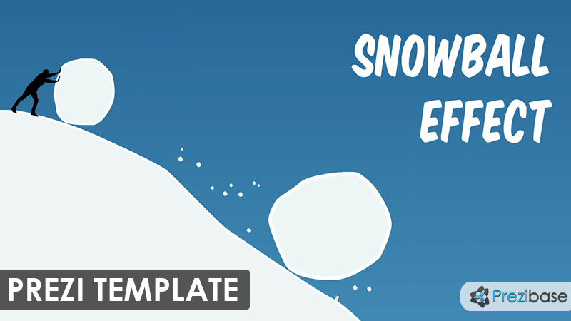 snowball effect snow prezi template downhill