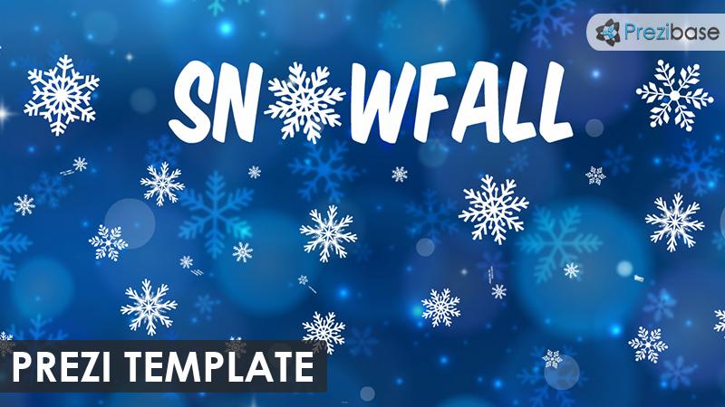 Snowfall prezi template prezibase snowfall winter animated prezi template toneelgroepblik Gallery