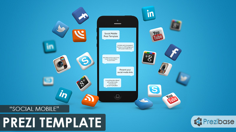 social media iphone marketing prezi template