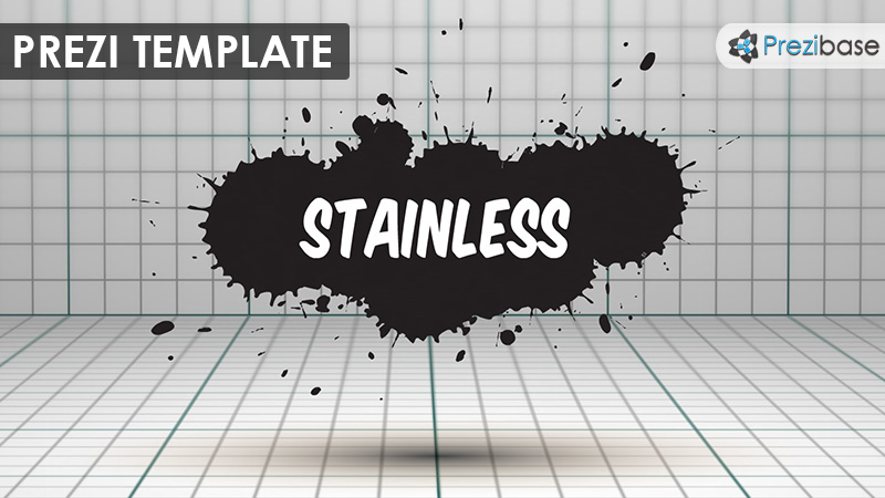 3d ink splatter graphic design grunge prezi template