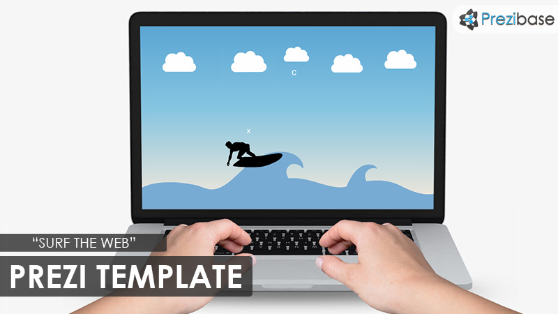 surf the web online prezi template laptop