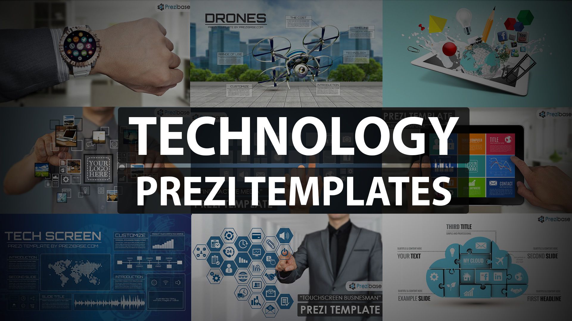 Technology, IT and internet prezi templates for presentations