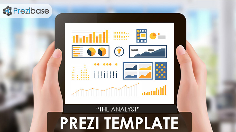 analytics analyst reporting prezi template