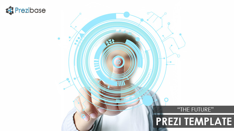 Future circle technology Prezi Template for presentations