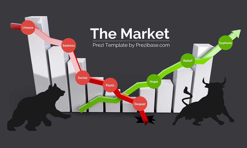 The stock market bull bear prezi next presentation template
