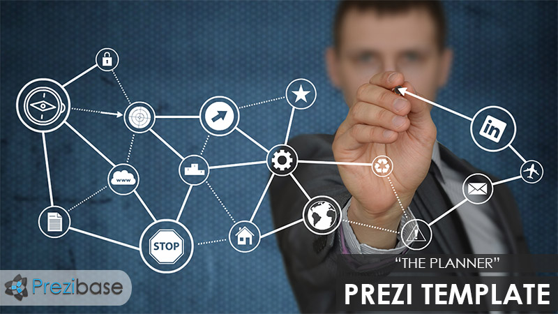 the planner leader businessman professional prezi template boss