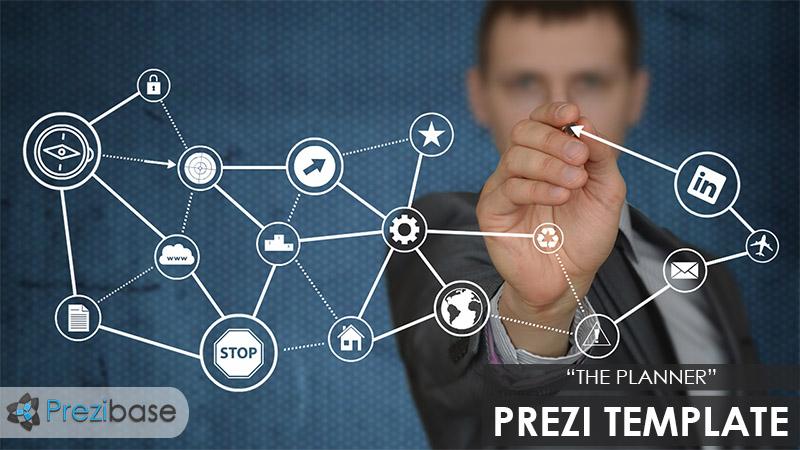 the planner leader businessman professional prezi template boss