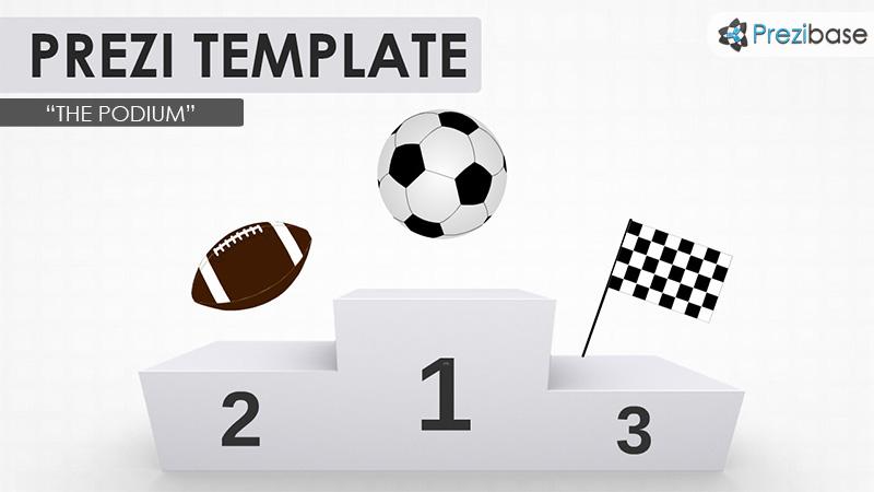 podium sports prezi template football soccer tennis