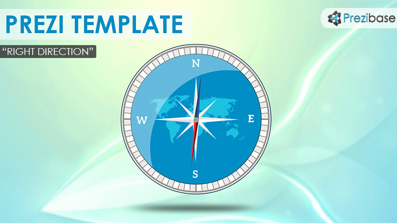 the right direction compass animated prezi template