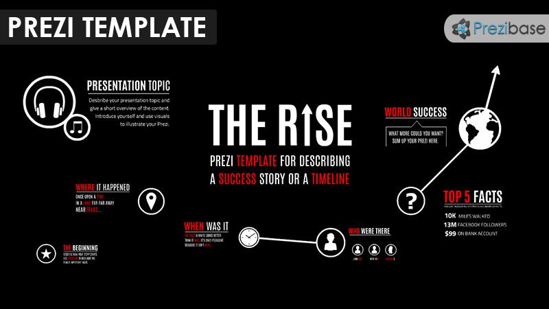 timeline path graph milestones prezi template