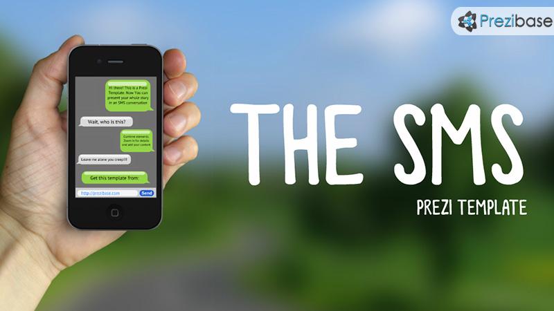 sms conversation chat bubbles prezi template iphone