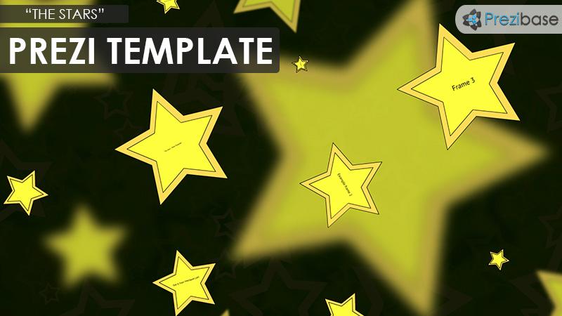 stars 3d background prezi template