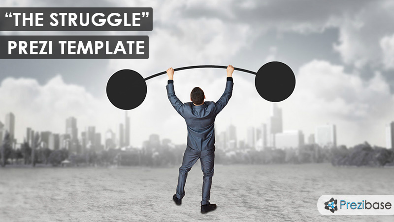 the struggle lifting barbell prezi template for business time versus money