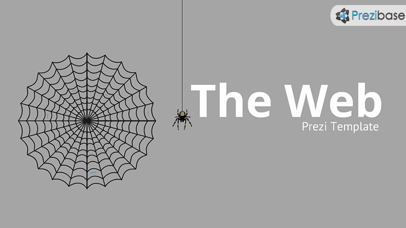 animated spider prezi template in web