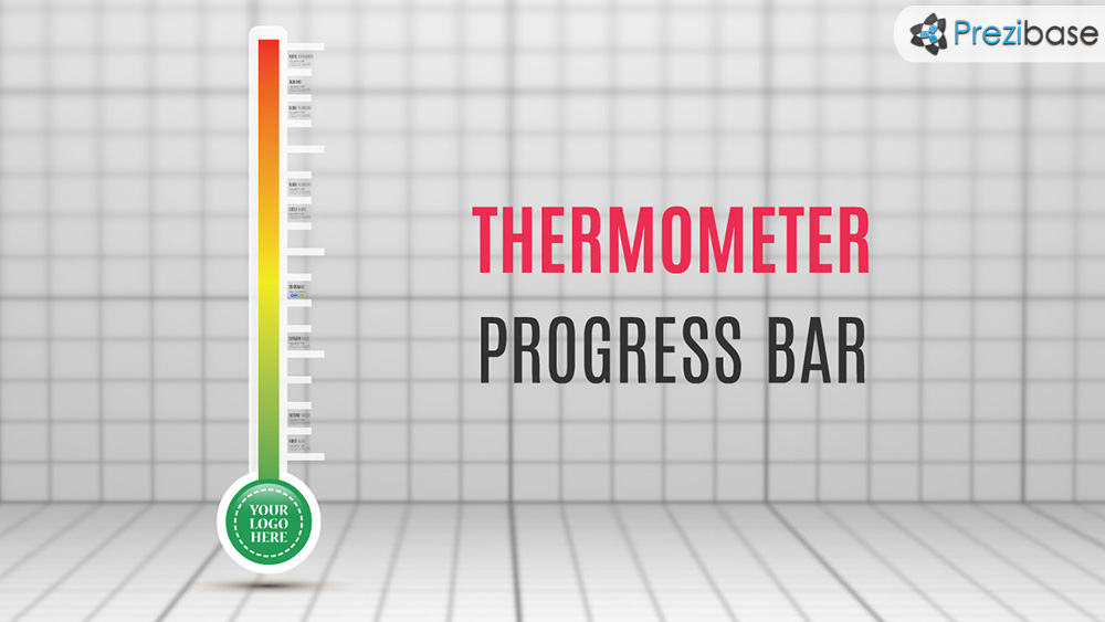 Thermometer Progress Bar Prezi Template | Prezibase