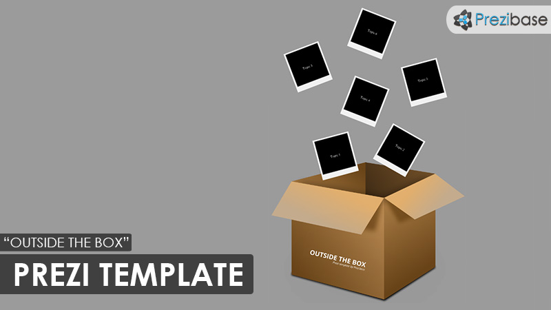 creative thinking outside the box prezi template