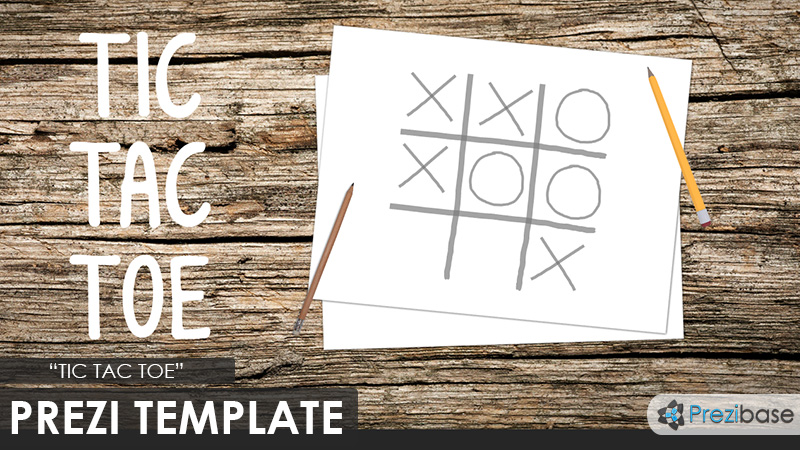 tic tac toe gaming learning prezi template