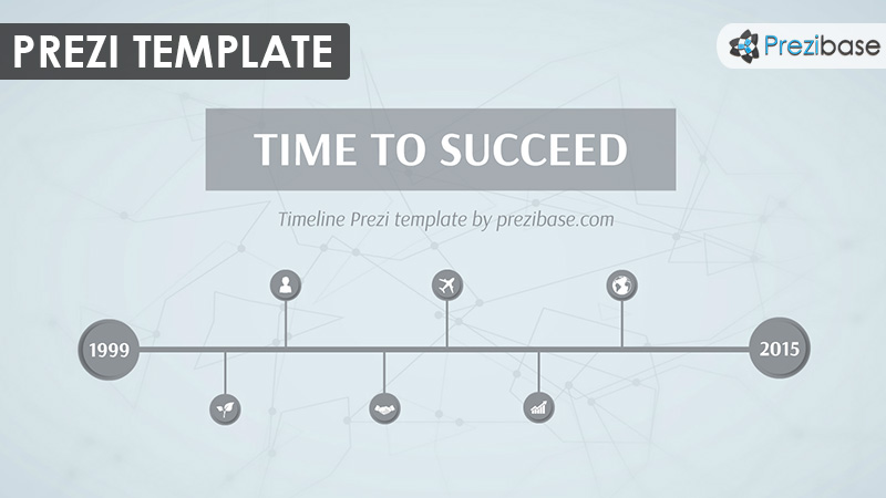 business timeline prezi template