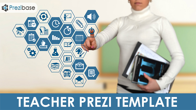 touchscreen teacher buttons interface digital learning prezi template
