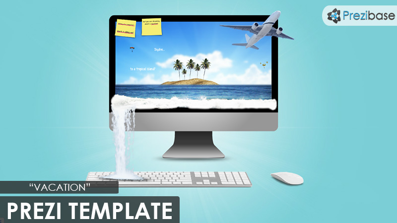 vacation 3d time share beach amazing beautiful prezi template