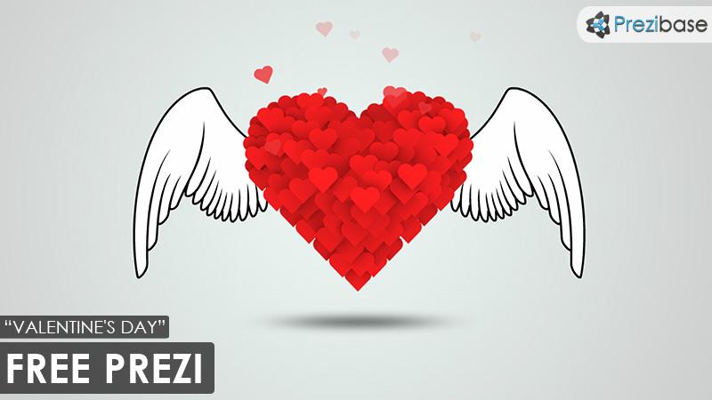 Free Valentines day love prezi template
