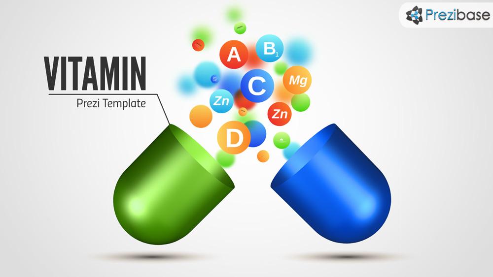 Vitamine capsules drugstore medical prezi presentation template