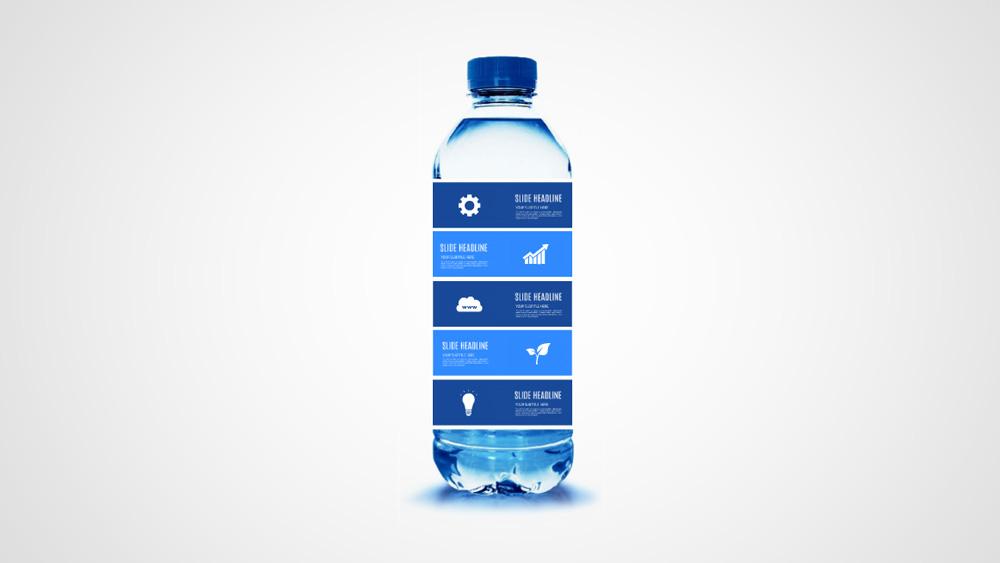 water bottle creative tiles infographic prezi template for presentations