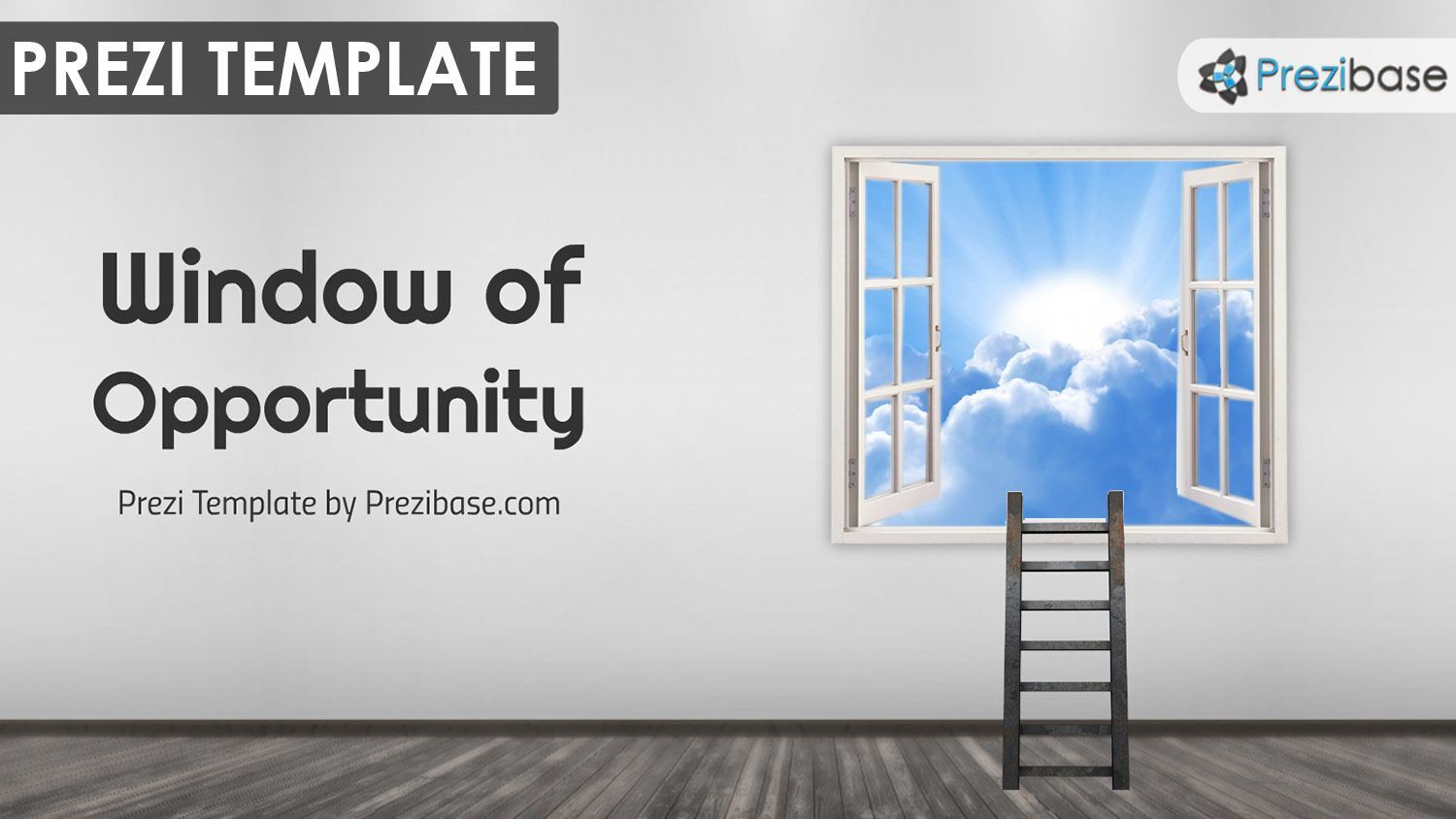 creative window opportunity success goals life achieve targets career prezi template