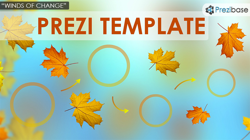 winds of change prezi template autumn leafs