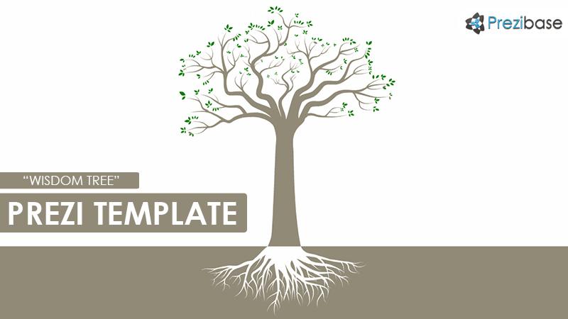 wisdom knowledge tree education learning prezi template roots