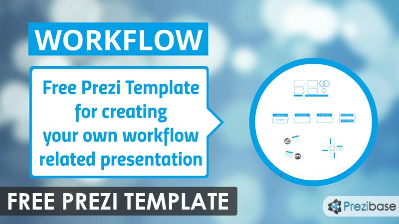 Free workflow progress diagram prezi template