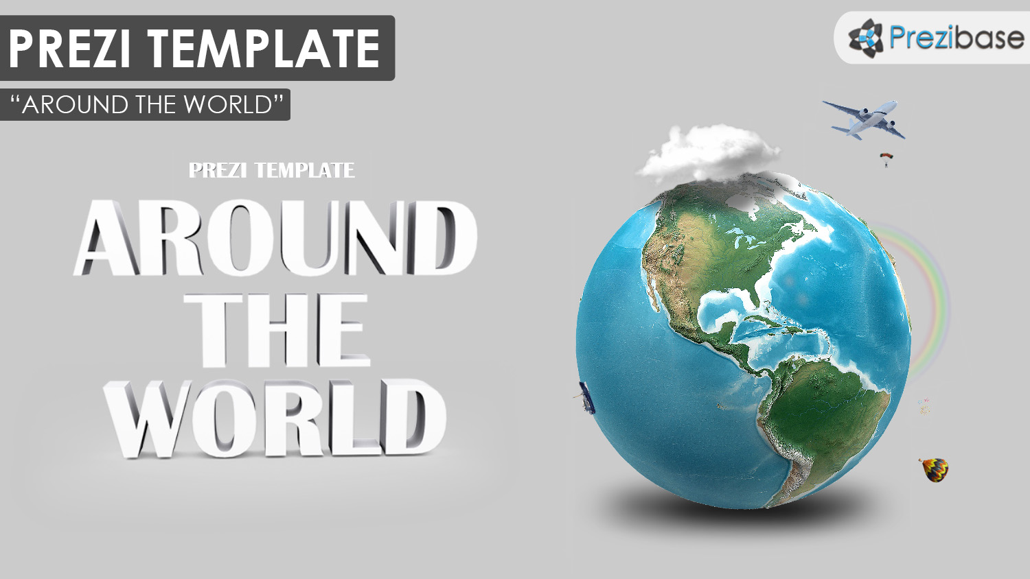 free world map earth planet 3d prezi template