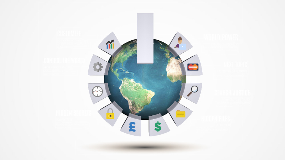 eart globe on off power button world leaders presentation template