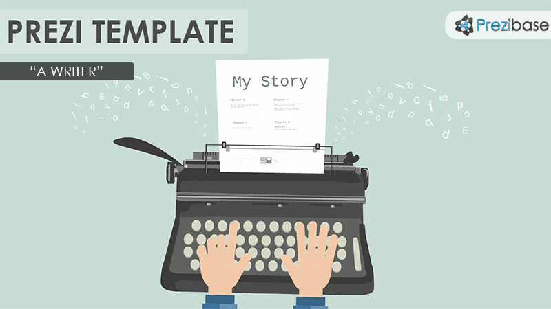 a writer type machine prezi template