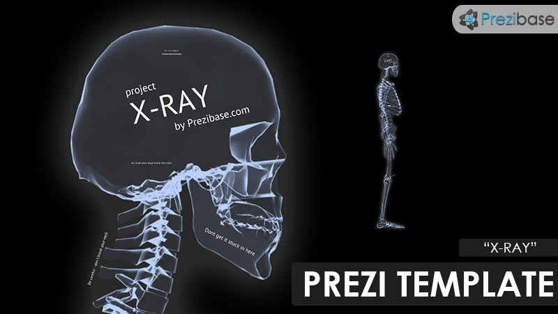 medical x-ray xray skeleton prezi template