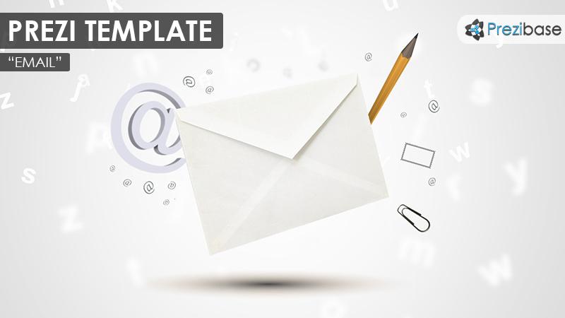 3d email envelope business letter prezi templates