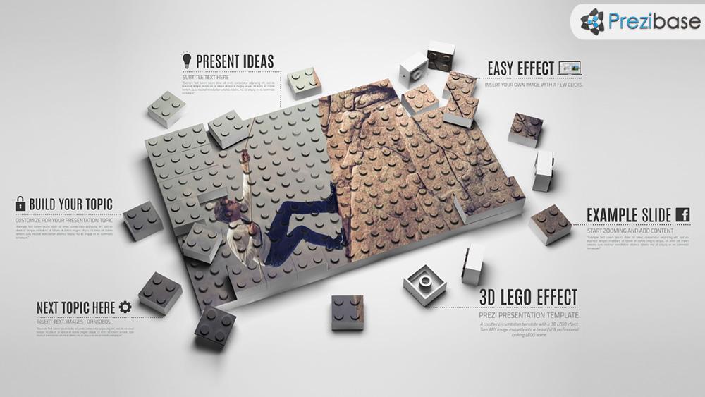 3D lego effect prezi presentation template