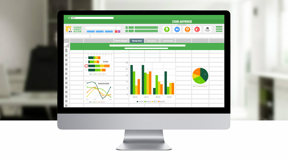 Spreadsheet 3d math and calculations prezi presentation template