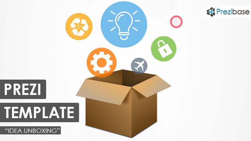 idea unboxing prezi template 3d