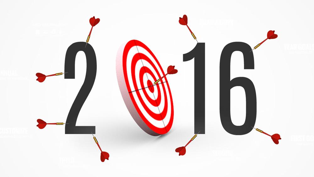year goals and targets bullseye darts prezi presentation template