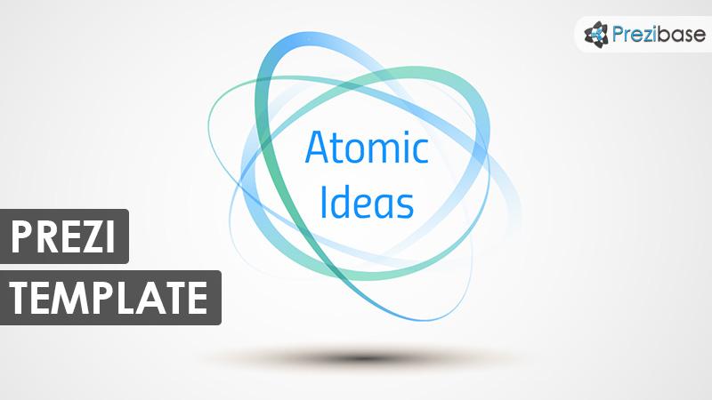 atomic shape nuclear simple prezi template