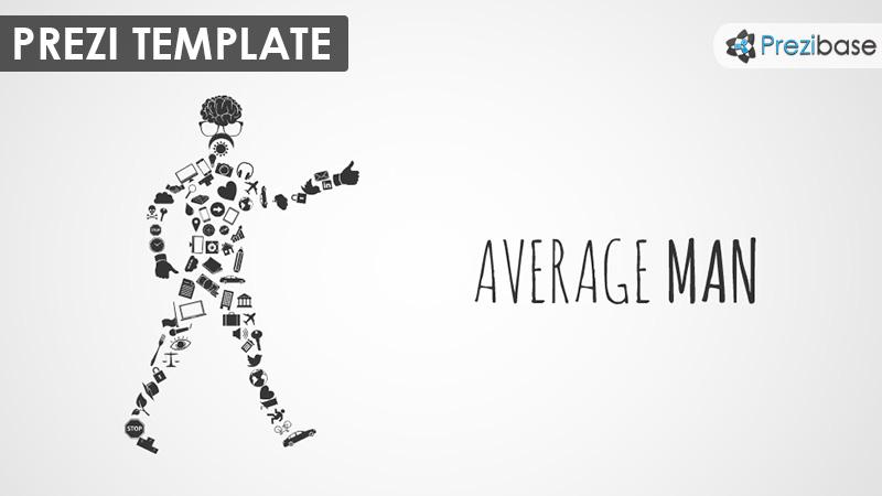 average man walking from icons male prezi template