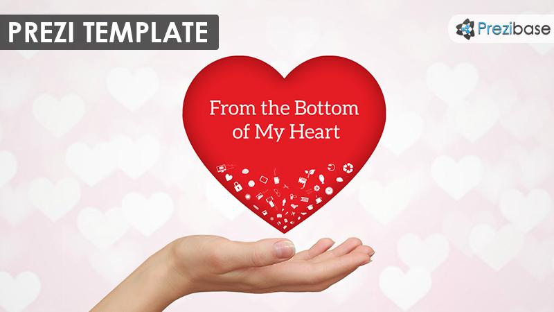 love heart passion prezi template