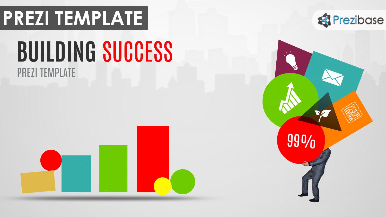 colorful chapes creatiee businessman graph chart prezi template