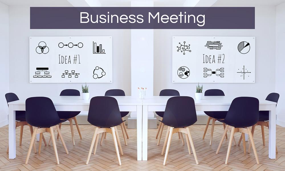 Business meeting company boardroom Prezi presentation template