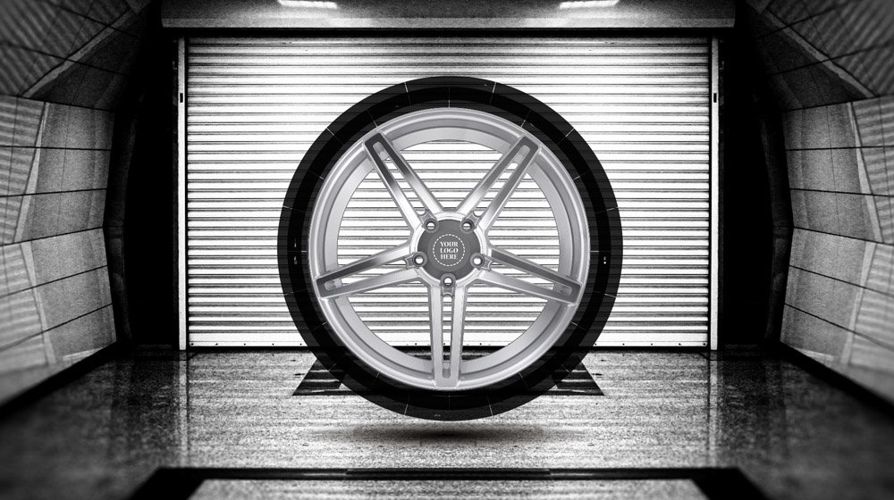 Car fanatic tire wheel rim Prezi template for presentations about cars