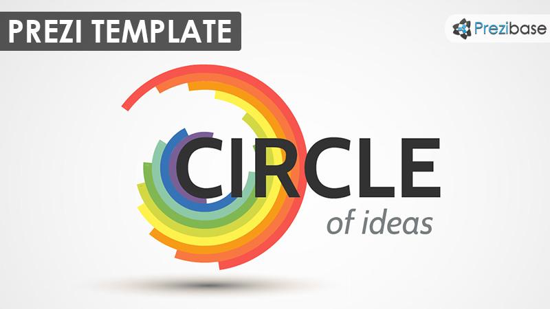 colorful circle creative prezi template