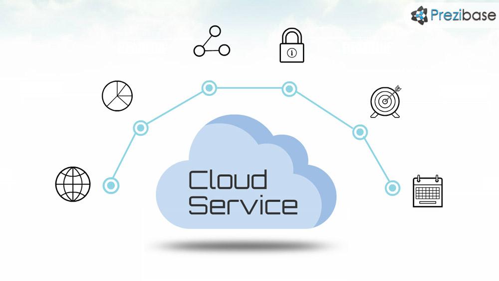 it technology cloud service prezi template