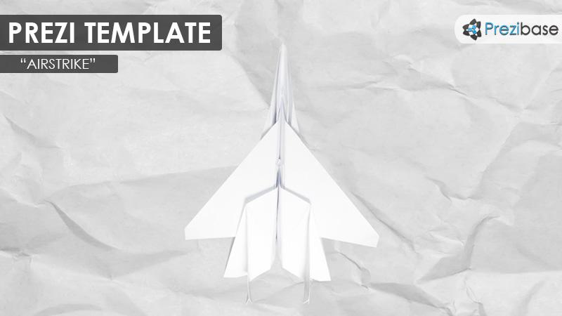 creative paper airplane sketch drawing prezi template