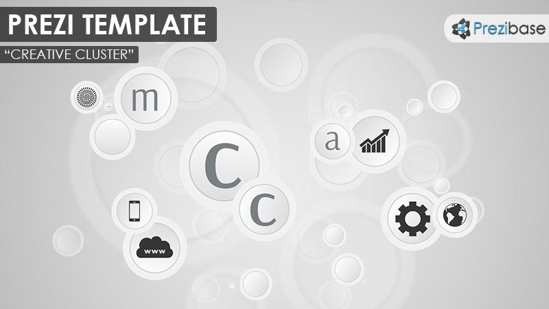 creative cluster 3d circles gray business presentation multipurpose
